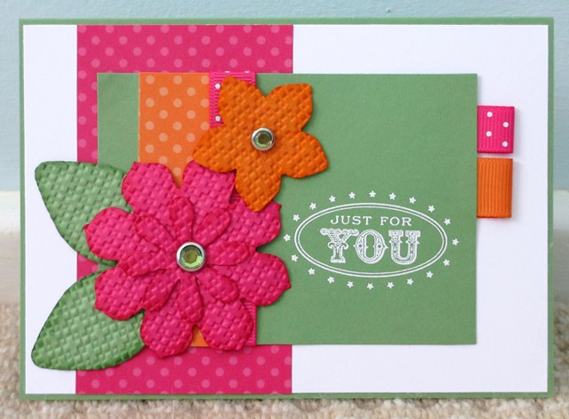 Oval All Big Shot Blossoms Card
